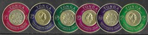 Tonga # 128-33 Gold Coins on stamps  (6) NH ***U.S.A. ORDERS ONLY***
