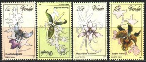 Venda. 1981. 46-49. Orchids, flowers. MNH.