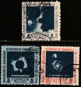 MEXICO 774-776, OPENING OF Tonanzintla Astrophysics Observatory USED. F-VF. (2)