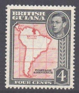British Guiana Scott 232 - SG310b, 1938 George VI 4c Perf 13 x 14 MH*