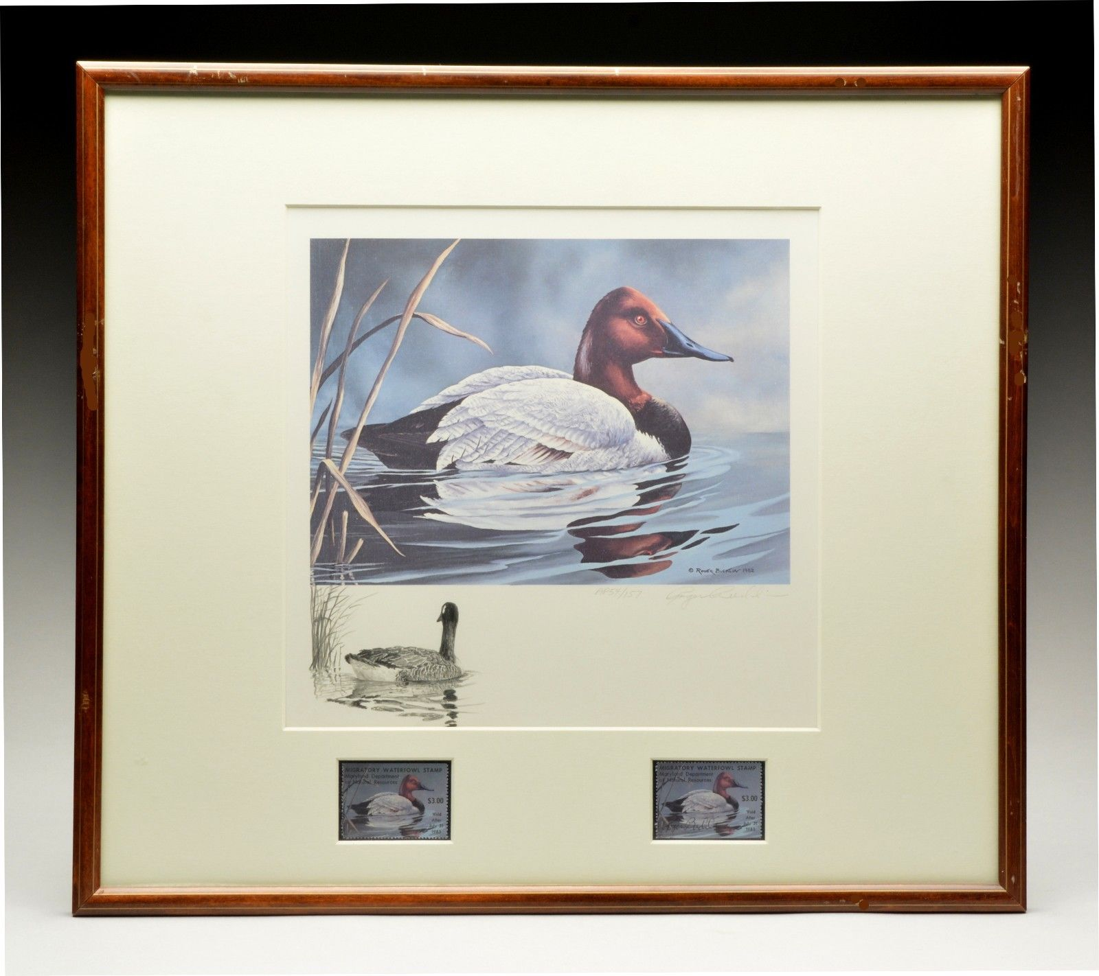 1982 RARE ARTIST PROOF MD WATERFOWL PRINT & REMARQUE by