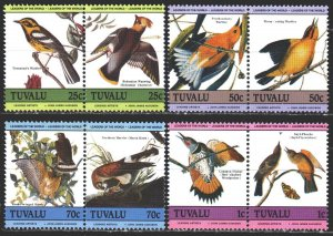 Tuvalu. 1985. 276-83. Birds, Odabon, fauna. MNH.