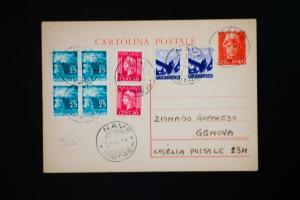 Italy Navy Card Eritrea Cancel 'R' Omitted