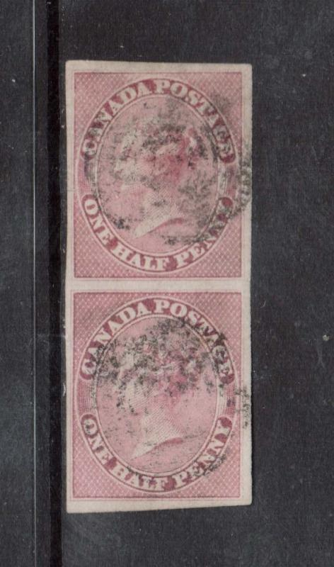 Canada #8a XF Used Rare Pair **With Certificate**
