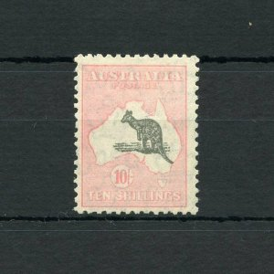 AUSTRALIA KANGAROO  SCOTT#127, SG#136   MINT LIGHT HINGED--SCOTT VALUE $400.00