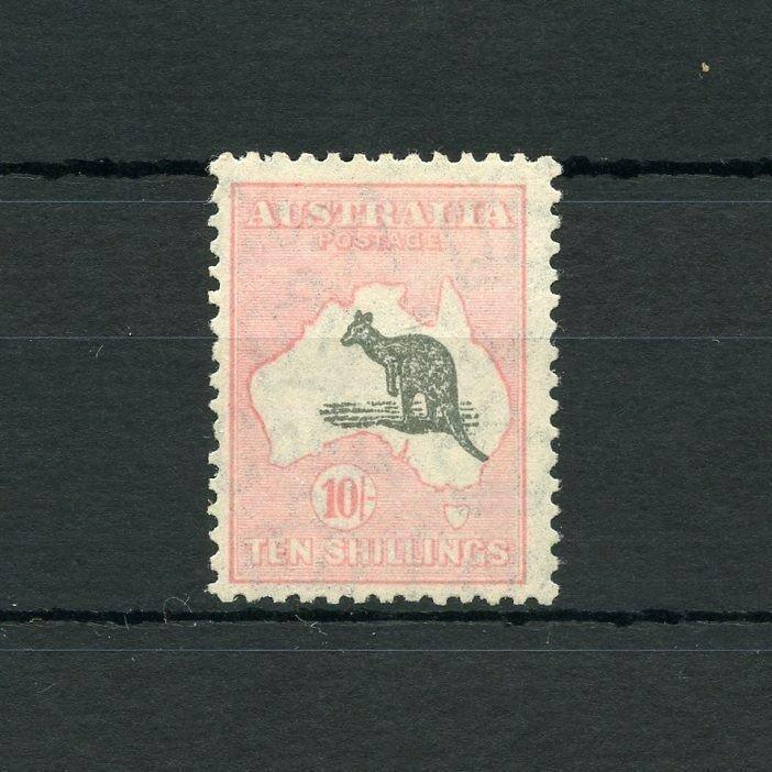 AUSTRALIA KANGAROO  SCOTT#127, SG#136   MINT LIGHT HINGED--SCOTT VALUE $400.00