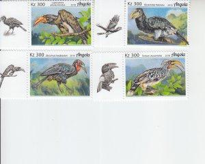 2019 Angola Birds - Hornbills (4) (Scott NA) MNH