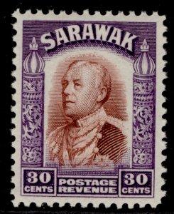 SARAWAK GV SG118, 30c red-brown & violet, M MINT.