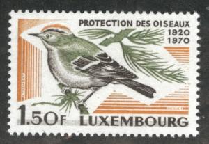 Luxembourg Scott 487 MNH** 1970 Goldcrest Bird stamp