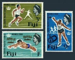 Fiji 226-228,MNH.Michel 198-200. South Pacific Games 1966,Runner,Diver,Shot put.