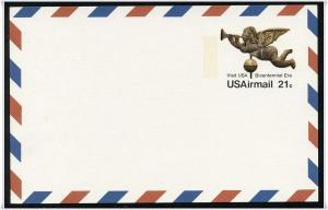 SC#UXC16 21¢ Eagle Weather Vane Postal Card