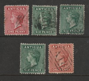 Antigua a small lot of early QV