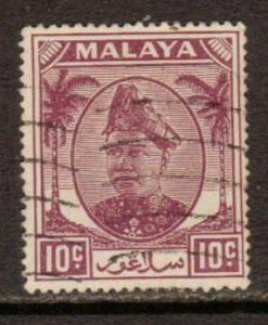 Malaya-Selangor   #86  used  (1949)