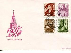 GDR 1955  set on Art Exhibition  unaddressed FDC  VF