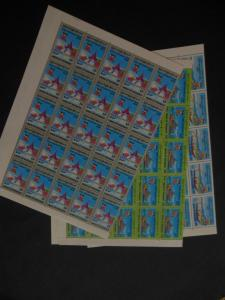 BURMA : 1996. Scott #328-30 Complete sets in Full Sheets of 50. Catalog