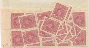 Canada - 1943 4c KGVI War Issue X 40 VF-NH #254