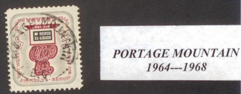 CANADA  BRITISH COLUMBIA CANCEL    PORTAGE MOUNTAIN