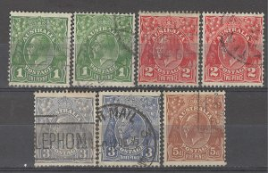 COLLECTION LOT # 4871 AUSTRALIA 7 STAMPS 1926+ CV+$15