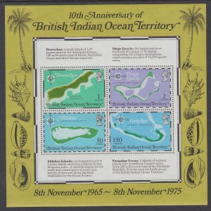 British Indian Ocean Territory 85a Maps Souvenir Sheet MNH VF
