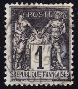 France Scott 86a  VF used.