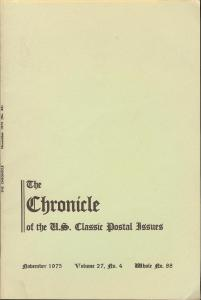 The Chronicle of the U.S. Classic Issues, Chronicle No. 88