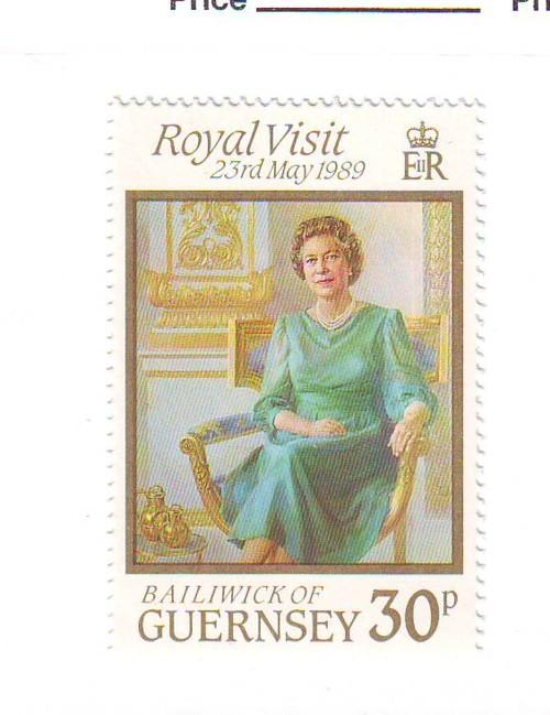 Guernsey Sc 410 1989 Royal Visit stamp mint NH