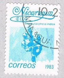Nicaragua Flower blue 1 - pickastamp (AP109006)