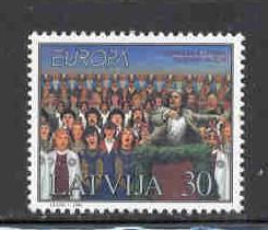 Latvia Sc 463 1998 Europa Song Festival stamp