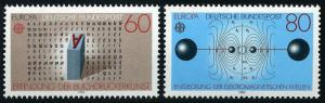 Germany 1392-1393, MNH. Discoveries: Printing press; Electromagnetic waves, 1983