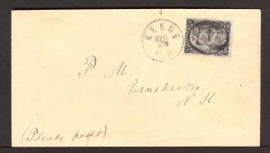 73, KEENE, NH, DEC/28 , 1861-67 Issues