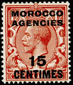 MOROCCO AGENCIES SG204, 15c on 1½d red-brown, LH MINT.