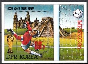 North Korea, Sc 2533, CTO-NH, 1985, World Cup Soccer, (AA02059)
