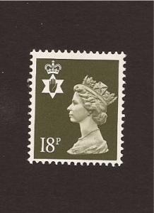 Northern Ireland  S.G. NI46 - 1987 - 18p olive-gray