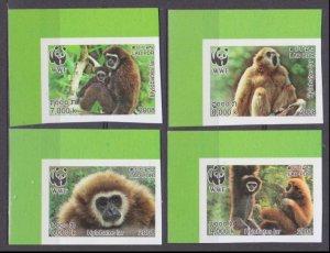 2008 Laos 2062-2065b WWF / Fauna - Monkeys 30,00 €