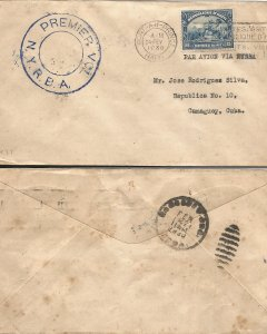 J) 1930 CARIBE, ALLEGORY OF COMMERCE, WITH SLOGAN CANCELLATION, CIRCULATED COVER