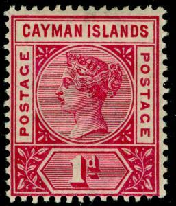 CAYMAN ISLANDS SG2a, 1d pale carmine, LH MINT. Cat £14.