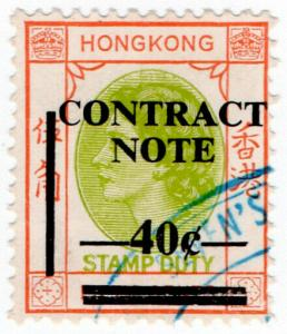 (I.B) Hong Kong Revenue : Contract Note 40c on 50c OP