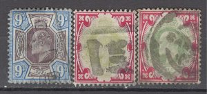 COLLECTION LOT OF #1049 GREAT BRITAIN #136+138*2 1902+ CLEARANCE CV=$150