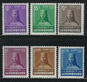 Luxembourg 1935 King Charles set Sc# B67-72 NH