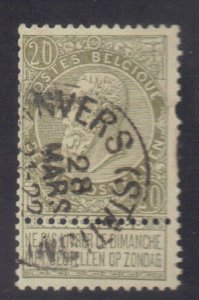 BELGIUM SC# 67 **USED** 20c  1893-1900    SEE SCAN