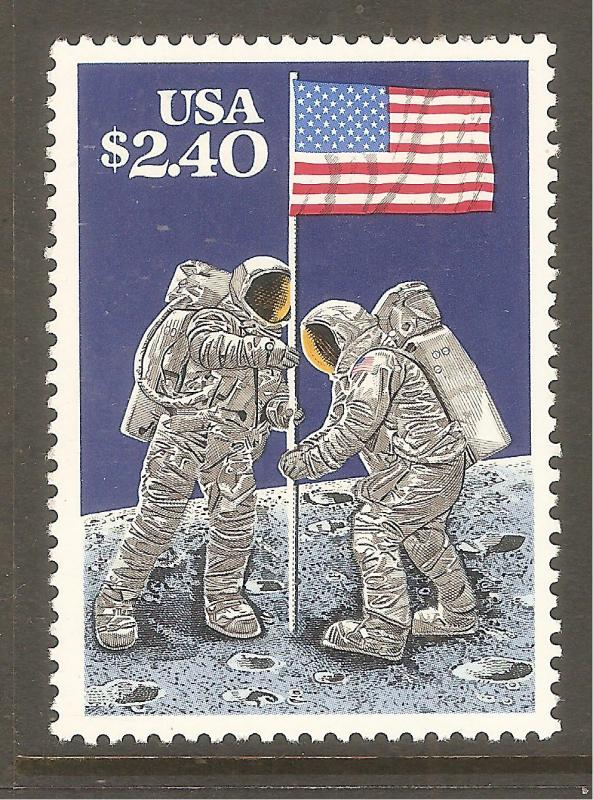 #2419 Moon Landing Single Mint  NH