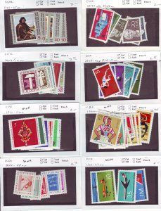 Z646 JL stamps germany DDR mnh with sets on sales cards, been checked & sound