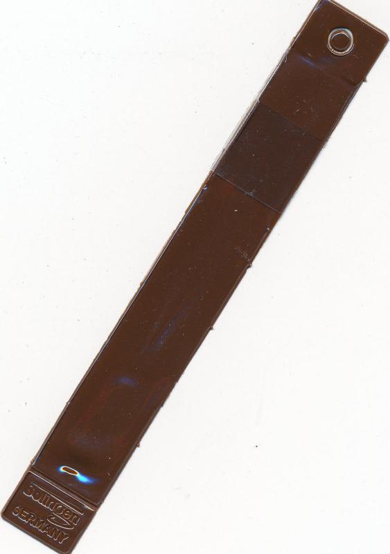 Showgard Tongs #905 Round Tip 4 5/8 Long With Brown Plastic Case