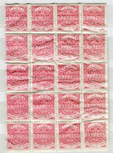 SAMOA; 1870s Scarce Full Pane Mint MNH Block of 2d. value