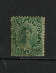 Canada SC# 18, Used, center thin, minor toning - S8495