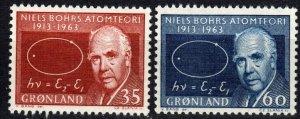 Greenland #66-7  MNH CV $5.15 (P650)