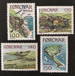 Faroe Islands 1978 #31-4, MNH, CV $1.80