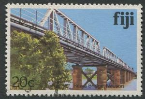 FIJI - 20c REWA BRIDGE, NAUSORI - USED