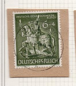 1944-45 GERMANY used in LUXEMBOURG Fine Used 6p. Postmark Piece 241674