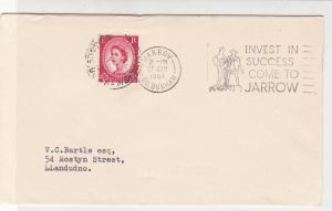 Britain 1964 Invest in Success Come To Jarrow Publicity Slogan Stamp Cover 31858